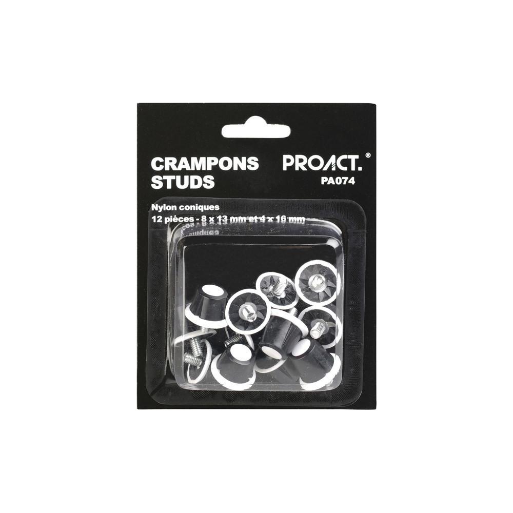 Pack de 12 crampons nylon conique
